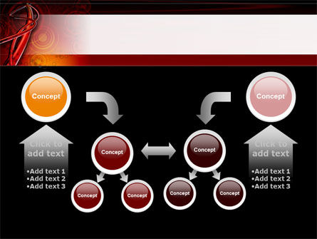 Red Abstract Tube PowerPoint Template Slide 19