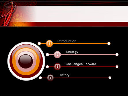 Red Abstract Tube PowerPoint Template Slide 3