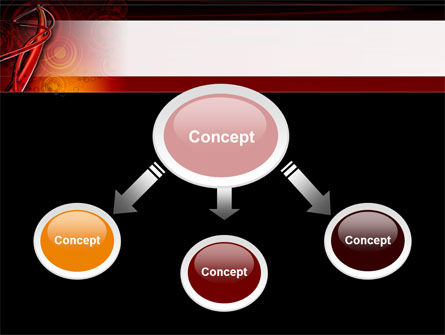 Red Abstract Tube PowerPoint Template, Slide 4, 09476, Abstract/Textures — PoweredTemplate.com