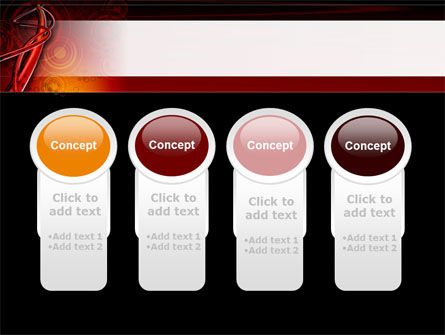 Red Abstract Tube PowerPoint Template Slide 5