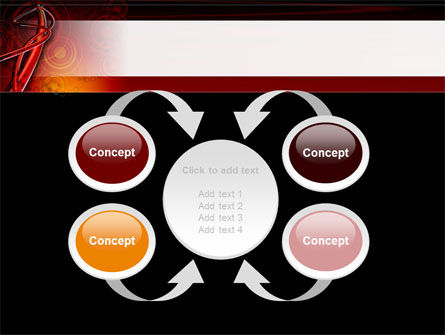 Red Abstract Tube PowerPoint Template Slide 6