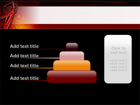 Red Abstract Tube PowerPoint Template Slide 8