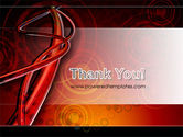 Red Abstract Tube PowerPoint Template#20