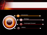 Red Abstract Tube PowerPoint Template#3