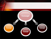 Red Abstract Tube PowerPoint Template#4