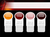 Red Abstract Tube PowerPoint Template#5