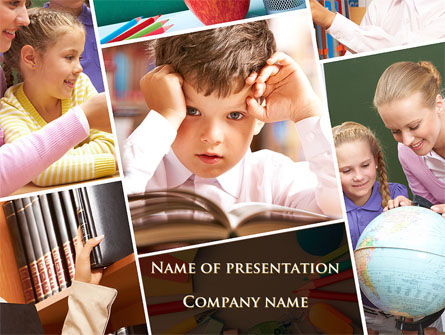 Elementary Education PowerPoint Template, 09477, Education & Training — PoweredTemplate.com
