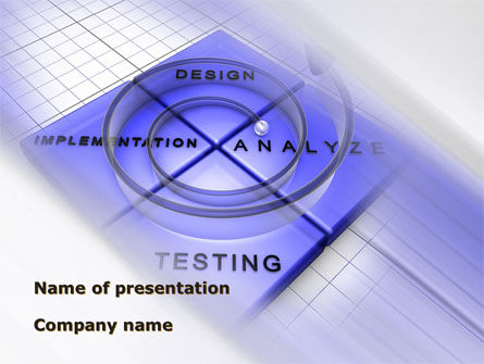 Spyral Model PowerPoint Template, 09478, Technology and Science — PoweredTemplate.com