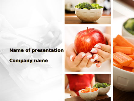 Fresh Food PowerPoint Template, 09481, Food & Beverage — PoweredTemplate.com