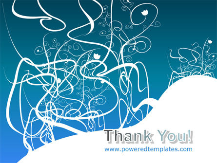 White Flowers Blue Pattern PowerPoint Template Slide 20