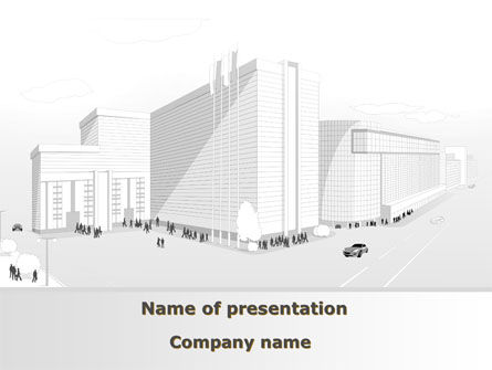 Construction: Urban Architecture Project PowerPoint Template #09483