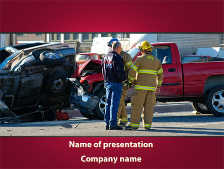 Cars and Transportation: Car Accident PowerPoint Template #09484