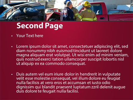 Car Accident PowerPoint Template, Slide 2, 09484, Cars and Transportation — PoweredTemplate.com