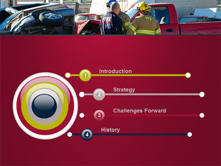 Car Accident PowerPoint Template, Slide 3, 09484, Cars and Transportation — PoweredTemplate.com