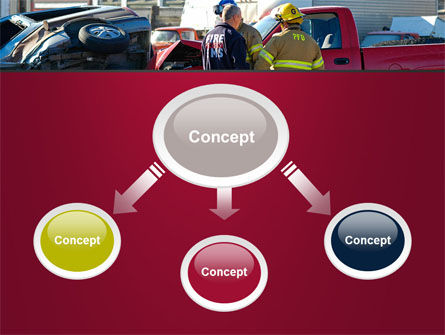 Car Accident PowerPoint Template, Slide 4, 09484, Cars and Transportation — PoweredTemplate.com