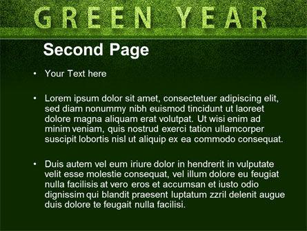 Green Year PowerPoint Template, Slide 2, 09487, Nature & Environment — PoweredTemplate.com