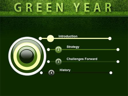 Green Year PowerPoint Template, Slide 3, 09487, Nature & Environment — PoweredTemplate.com