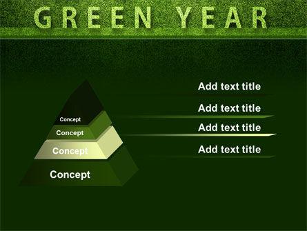 Green Year PowerPoint Template, Slide 4, 09487, Nature & Environment — PoweredTemplate.com