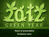 Nature & Environment: Green Year PowerPoint Template #09487