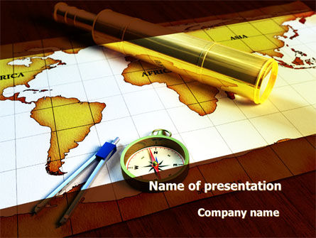 Spyglass PowerPoint Template, 09488, Global — PoweredTemplate.com