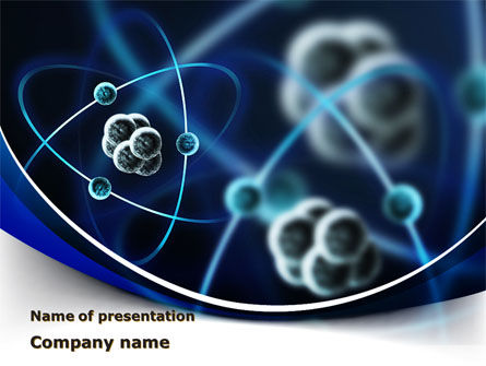 Atomic Model PowerPoint Template, 09489, Technology and Science — PoweredTemplate.com