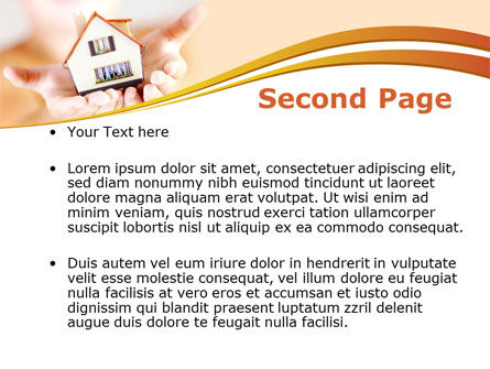 House In Hands PowerPoint Template, Slide 2, 09491, Real Estate — PoweredTemplate.com