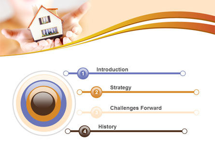 House In Hands PowerPoint Template, Slide 3, 09491, Real Estate — PoweredTemplate.com