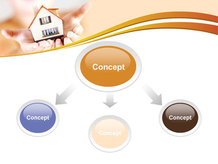 House In Hands PowerPoint Template, Slide 4, 09491, Real Estate — PoweredTemplate.com