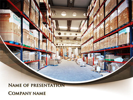 Warehouse PowerPoint Template, 09492, Careers/Industry — PoweredTemplate.com