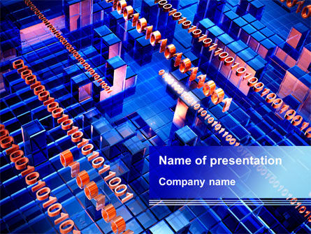 Inner Processor PowerPoint Template, 09495, Technology and Science — PoweredTemplate.com