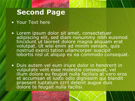 Leafs Cells PowerPoint Template, Slide 2, 09496, Nature & Environment — PoweredTemplate.com
