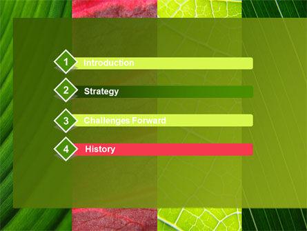 Leafs Cells PowerPoint Template, Slide 3, 09496, Nature & Environment — PoweredTemplate.com