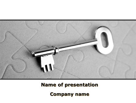 Consulting: Key To Puzzle PowerPoint Template #09497