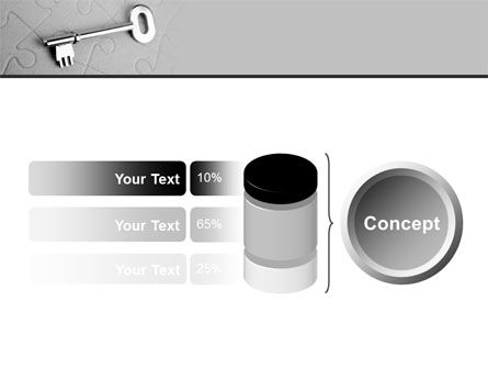 Key To Puzzle PowerPoint Template Slide 11