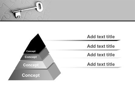 Key To Puzzle PowerPoint Template Slide 12