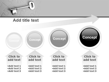 Key To Puzzle PowerPoint Template Slide 13