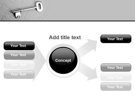 Key To Puzzle PowerPoint Template Slide 14