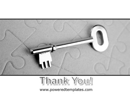 Key To Puzzle PowerPoint Template Slide 20