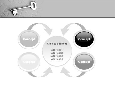 Key To Puzzle PowerPoint Template Slide 6