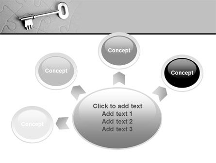 Key To Puzzle PowerPoint Template Slide 7