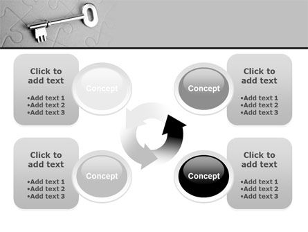 Key To Puzzle PowerPoint Template Slide 9