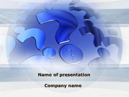 Question Marks PowerPoint Template, 09498, Consulting — PoweredTemplate.com