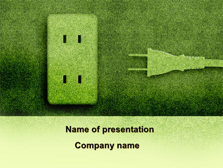 Energy of Greenery PowerPoint Template, 09499, Nature & Environment — PoweredTemplate.com