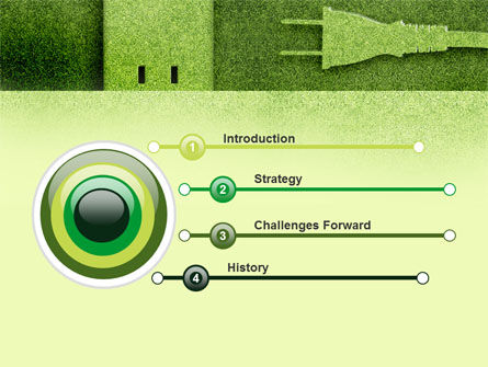 Energy of Greenery PowerPoint Template, Slide 3, 09499, Nature & Environment — PoweredTemplate.com