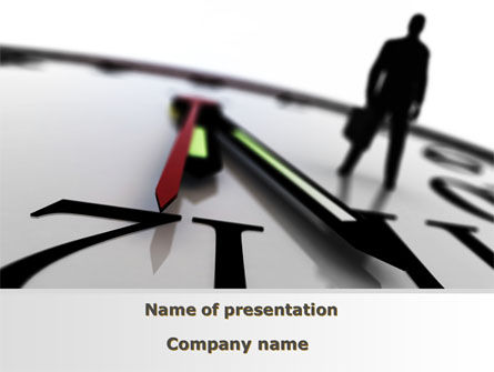 Protect Your Time PowerPoint Template, 09500, Business Concepts — PoweredTemplate.com