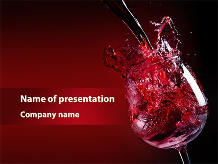 Food & Beverage: Fantastic Red Wine PowerPoint Template #09503