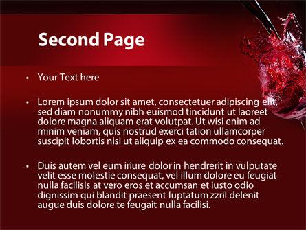 Fantastic Red Wine PowerPoint Template, Slide 2, 09503, Food & Beverage — PoweredTemplate.com