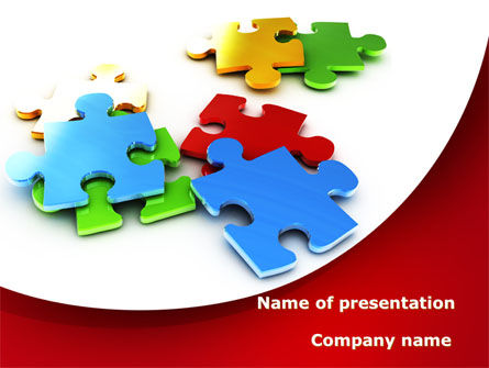 Colorful Puzzle Pieces Powerpoint Template Backgrounds 09505