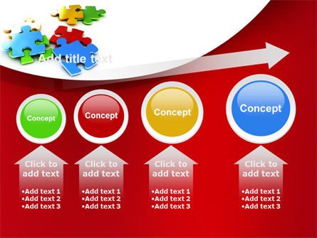 Colorful Puzzle Pieces PowerPoint Template Slide 13