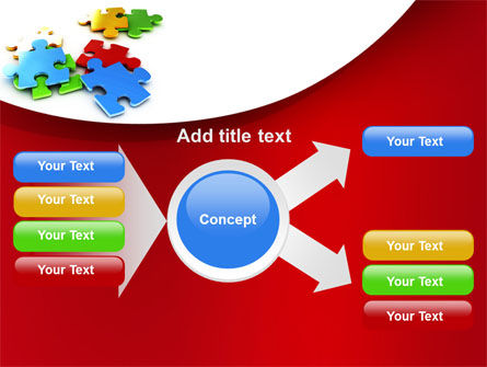 Colorful Puzzle Pieces PowerPoint Template Slide 14